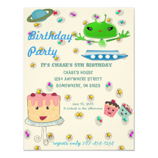 Alien Out of this World Invitation Birthday Party