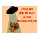 Alien Out of This World ThanksGiving! Postcard