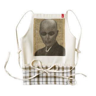 Alien over Dictionary Page Zazzle HEART Apron