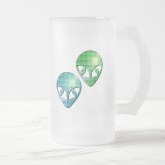 Alien Pair Frosted Beer Mug