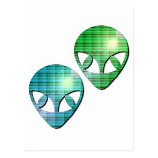 Alien Pair Postcard