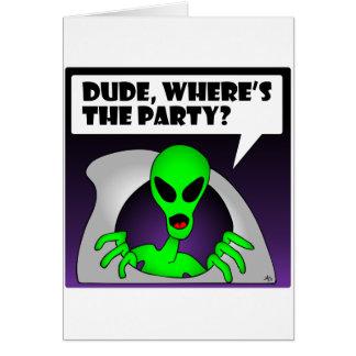 ALIEN PARTY-1 CARD