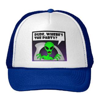 ALIEN PARTY-1 TRUCKER HAT