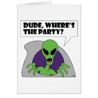 ALIEN party Card