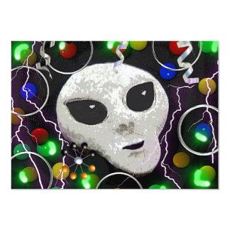 """Alien Party Invitation 5"""" X 7"""" Invitation Card"""