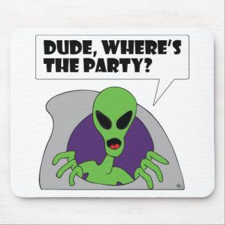 ALIEN party Mouse Pad