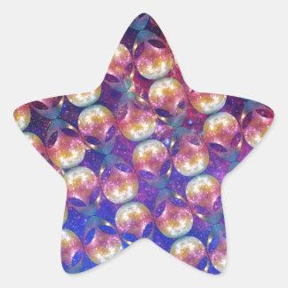 Alien Pattern Star Sticker
