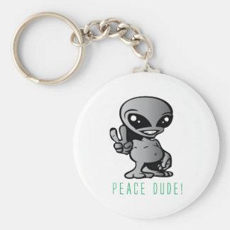 Alien-Peace Keychain