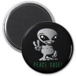 Alien-Peace Refrigerator Magnet