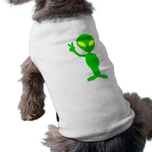 Alien Peace Sign Doggie Tee