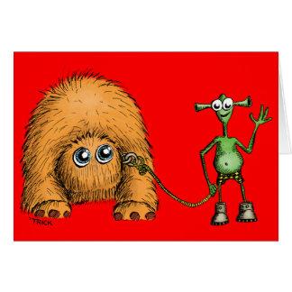 Alien Pet Walk Card