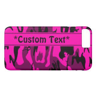 Alien Pink Camo w/ Custom Text iPhone 8 Plus/7 Plus Case