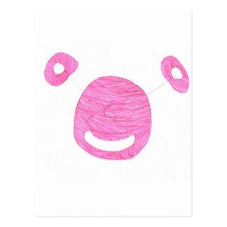 Alien Pink Postcard