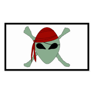Alien Pirate Double-Sided Standard Business Cards (Pack Of 100)