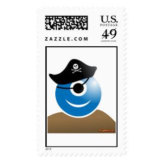 Alien Pirate U.S. Postage Stamp