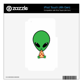 Alien Pizza iPod Touch 4G Decal