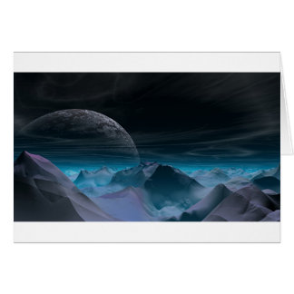 Alien planet card