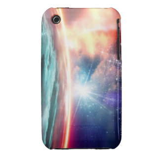 Alien planet, computer artwork. iPhone 3 case