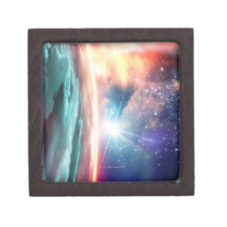 Alien planet, computer artwork. jewelry box