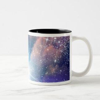 Alien planet, computer artwork. Two-Tone coffee mug