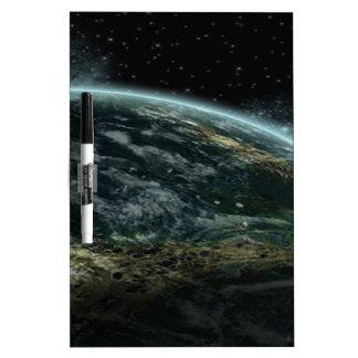 Alien Planet Dry-Erase Board