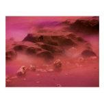Alien Planet Landscape Postcard