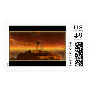 Alien Planet Postage Stamps