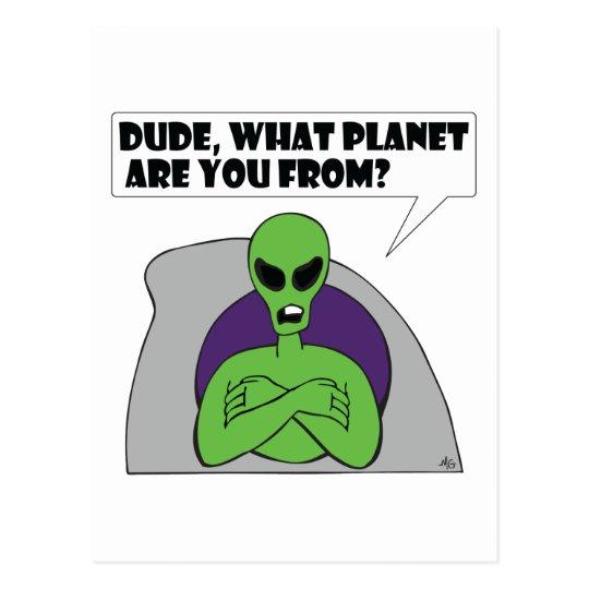 ALIEN planet Postcard
