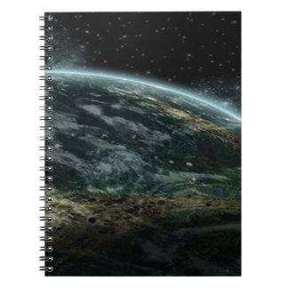 Alien Planet Spiral Notebook