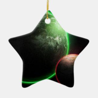 Alien planet's ceramic ornament