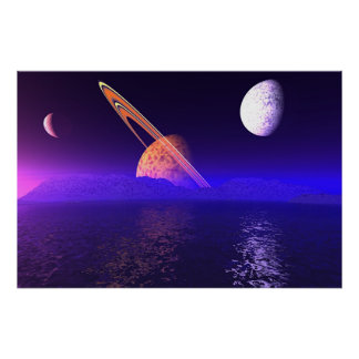 Alien Planetscape Poster