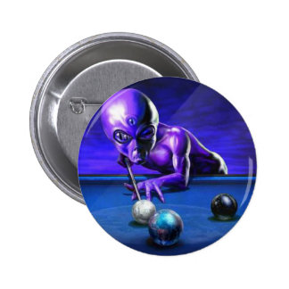 Alien Playing Pool Buttons