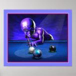 Alien Playing Pool Print