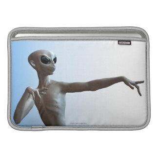 Alien Pointing MacBook Sleeves