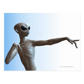 Alien Pointing Postcard