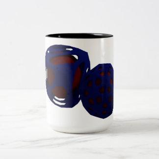 Alien Pollen Abstract Two-Tone Coffee Mug