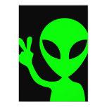 Alien Portrait 5x7 Paper Invitation Card