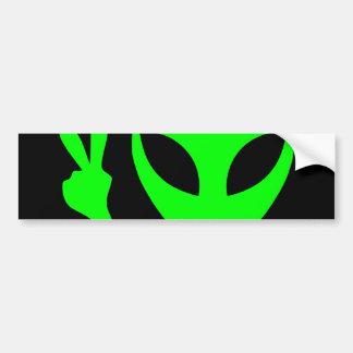Alien Portrait Car Bumper Sticker