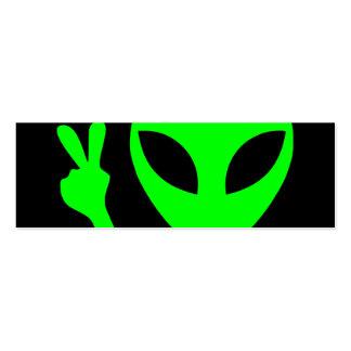 Alien Portrait Mini Business Card
