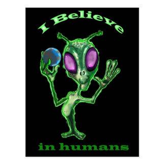 Alien post card