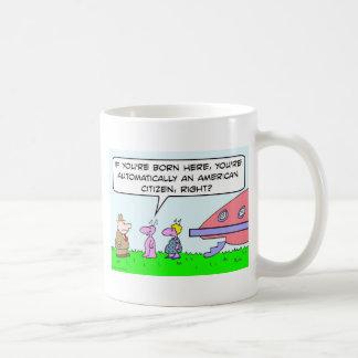 alien pregnant born american citizen saucer mug