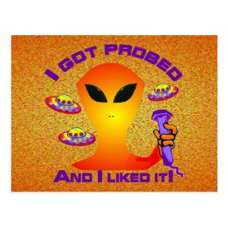 Alien Probe Postcard