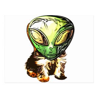 alien Puppy Love Postcard