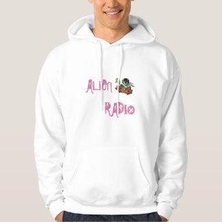 """alien radio """"logo """" hoodie"""