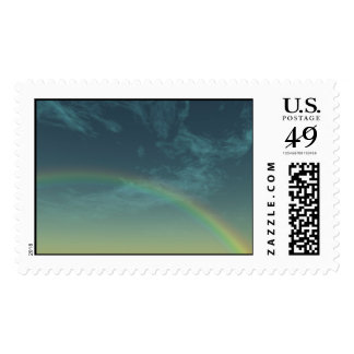 alien rainbow postage