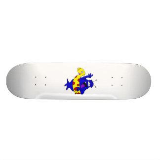 Alien ready to go swimming skateboard