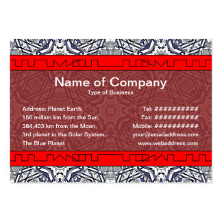 Alien Recorder Small Large Business Card