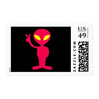 Alien-Red Postage