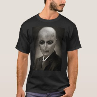 Alien Reptilian Conspiracy Men's Black Shirt
