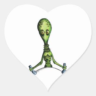 Alien Ride Heart Sticker